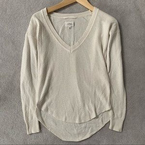 Aritzia Wilfred Silk & Cashmere V-Neck Sweater
